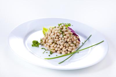 Bohnensalat weiß