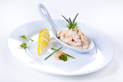 Shrimps in Cognaccreme
