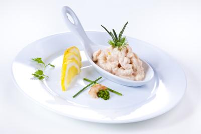 Shrimps in Cognaccreme