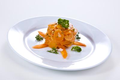 Karottensalat in Scheiben