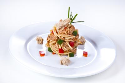 Spaghetti-Thunfisch- Salat